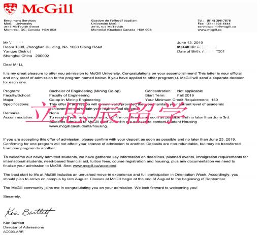 麦吉尔大学采矿工程案例