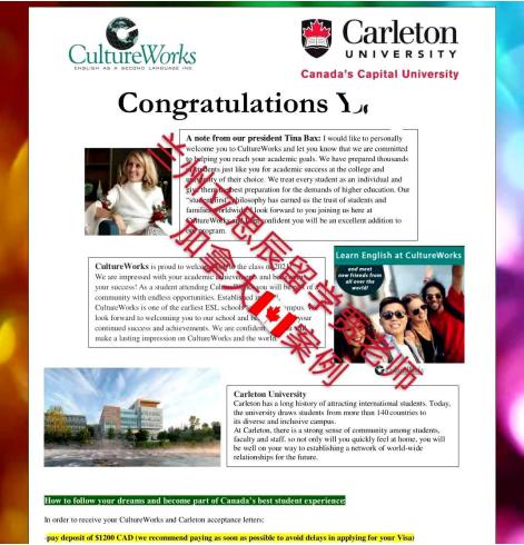 卡尔顿大学offer