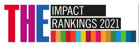 泰晤士高等教育2021年度世界大学影响力排名