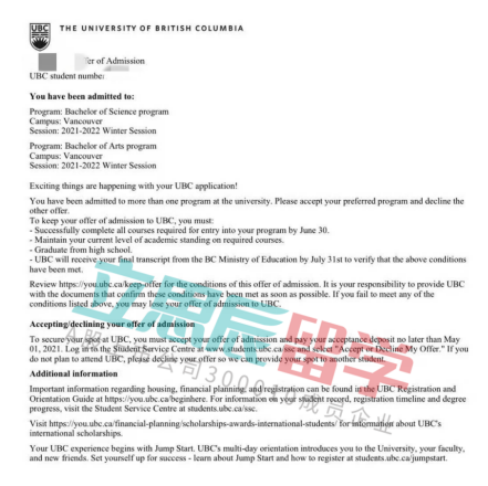 英属哥伦比亚大学文科申请